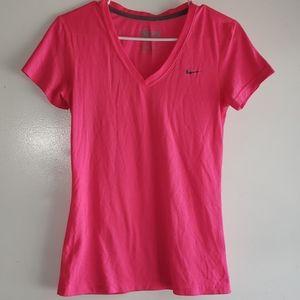 Hot Pink & Grey - •Nike•   Dri-Fit Athletic Tee